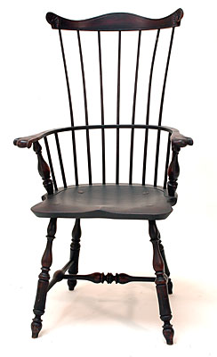 Pennsylvania Fan Back Arm Chair   Shield Seat