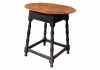 Oval Top Tea Table - Tiger Maple Top